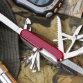 Red Swiss Army Knife showing tools you can't do without