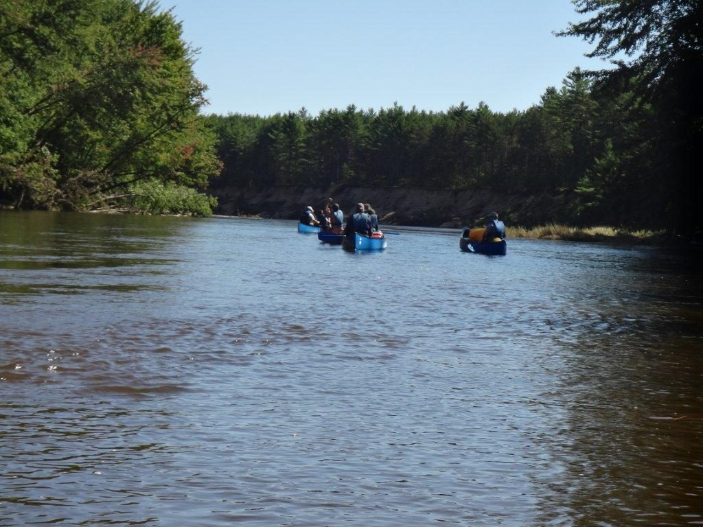 Canoeing up the Saco River