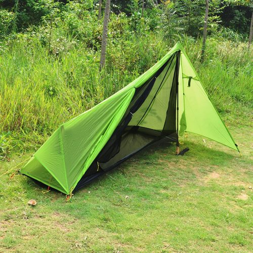 Andake single person tent shown open & Best One Person Tent Under $100: 5 Solo Tent Reviews