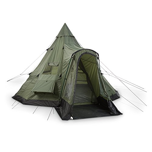 Guide Gear Deluxe Teepee Tent 14u2032 x 14u2032 u2013 Roomy tent with quick setup  sc 1 st  Tent Buying Guide & Best Teepee Tent For Camping: 3 Teepee Style Tent Reviews