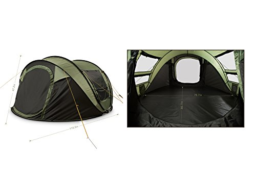 FiveJoy Instant 4-Person Pop Up Dome Tent u2013 The easiest to put away great quality the best instant tent here and thus our test winner  sc 1 st  Tent Buying Guide & Best Pop Up Tent For Camping: 5 Instant Tent Reviews