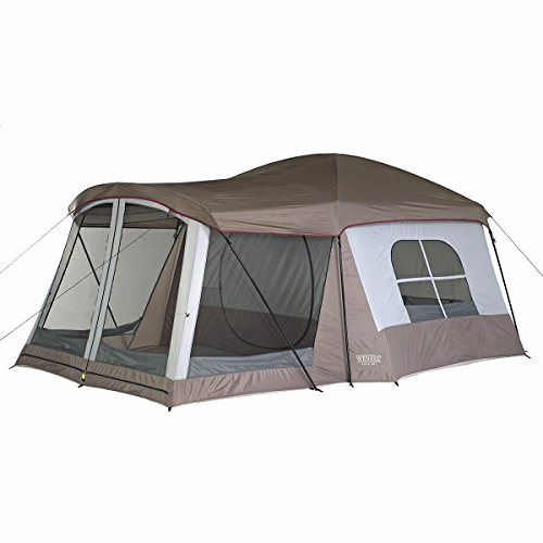 2. Wenzel 8-Person Klondike Tent u2013 Includes a handy multiuse screened porch area  sc 1 st  Tent Buying Guide & Best 8 Person Tent For Group or Family Camping: 8 Person Tent Reviews