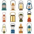 Vintage camping lantern graphic