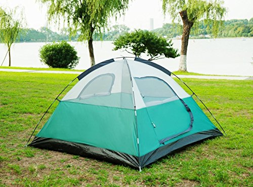 3. SEMOO Large Door 3-Person Tent u2013 Not great for 3 but holds up in various weather conditions & Spread Out With The Best 3 Person Tent For 2018