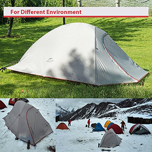 WEANAS 1 2 3 Person 4 Seasons Double Layer Backpacking Tent Ultralight Aluminum Rod Anti-UV Windproof Waterproof u2013 Offers good value and a decent option for ... & 5 Cold Weather Tents Reviewed: Which Will Keep You Warmest in Winter?