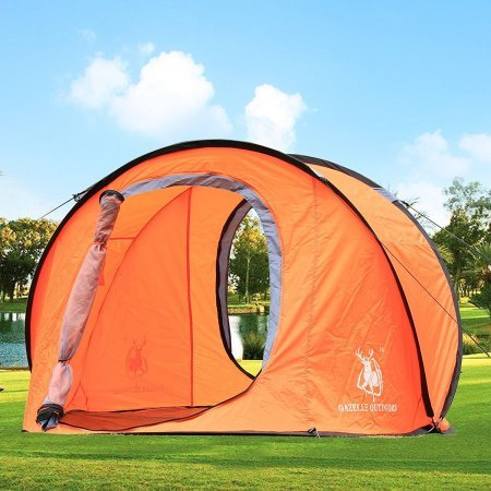 Gazelle Outdoors Large Pop Up Tent u2013 Attractive and spacious & Best Pop Up Tent For Camping: 5 Instant Tent Reviews