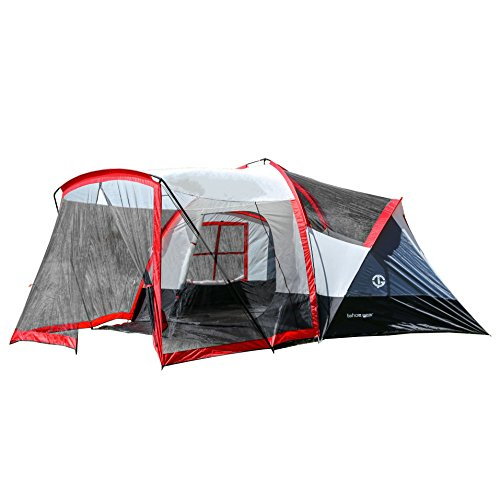 The Tahoe Gear Zion 9 Person 3 Season Camping Tent And Screen Porch Is Designed To Be Ideal For Families Complete With A Large Attached