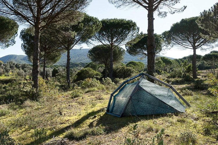 Inflatable backpacking tent from Heimplanet