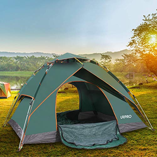 URPRO Automatic Pop Up Tent u2013 A roomy pop up tent good enough for 3 & Best Pop Up Tent For Camping in 2019: 5 Instant Tent Reviews