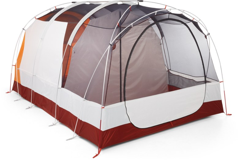 The 2019 REI Kingdom 8 Tent without the fly