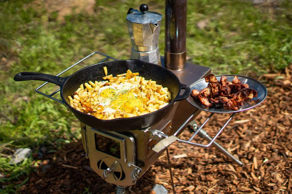 Cooking on the Winnerwell Wood Burning Camp Stove